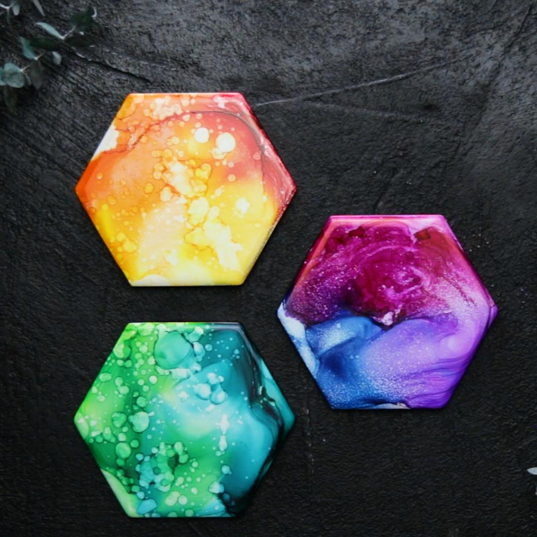 Rainbow Alcohol Art
