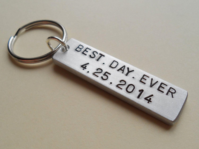 Wedding anniversary keychain couples keychain gift customized