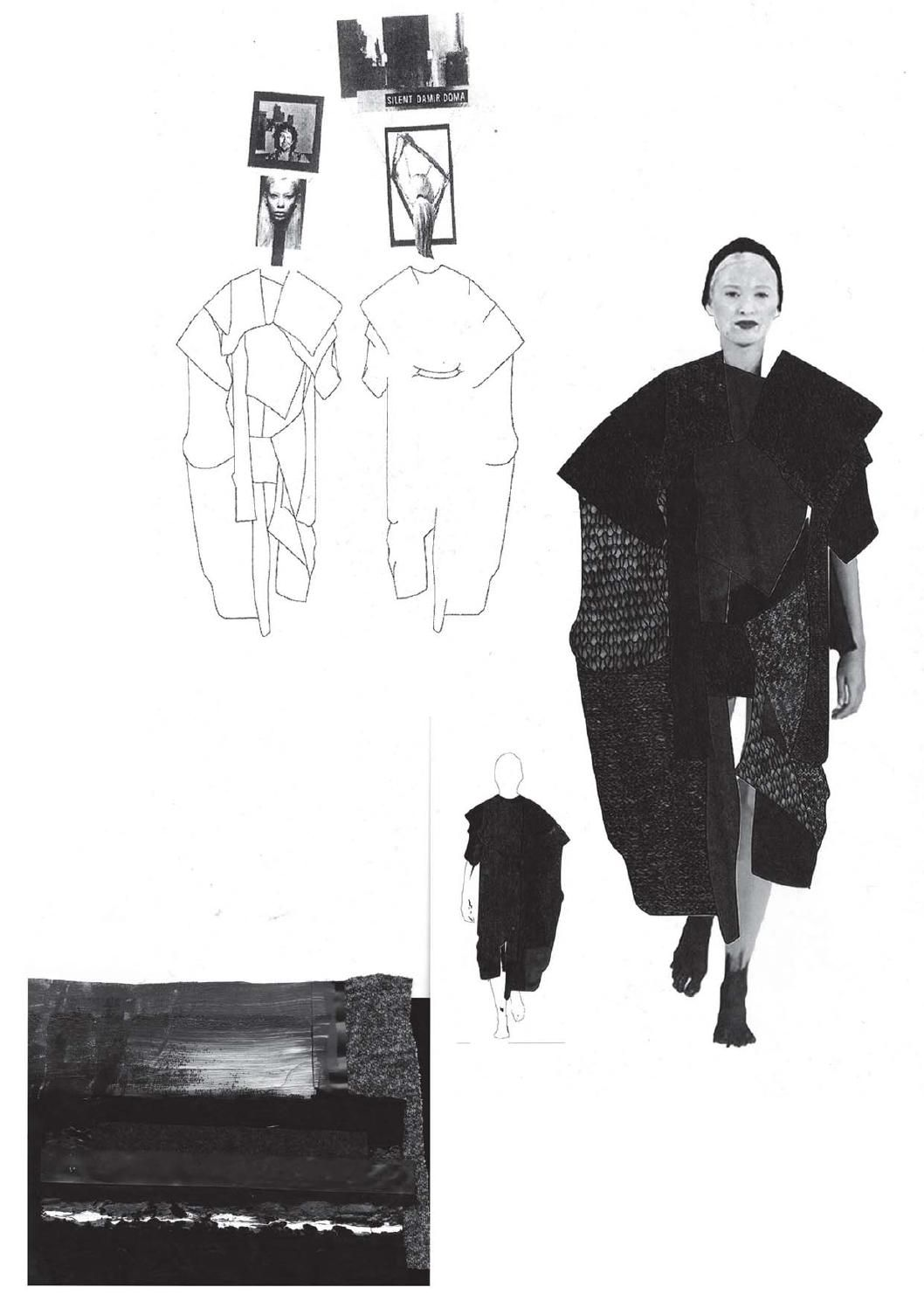 Fashion Sketchbook Page With Sketches Amp Design Development