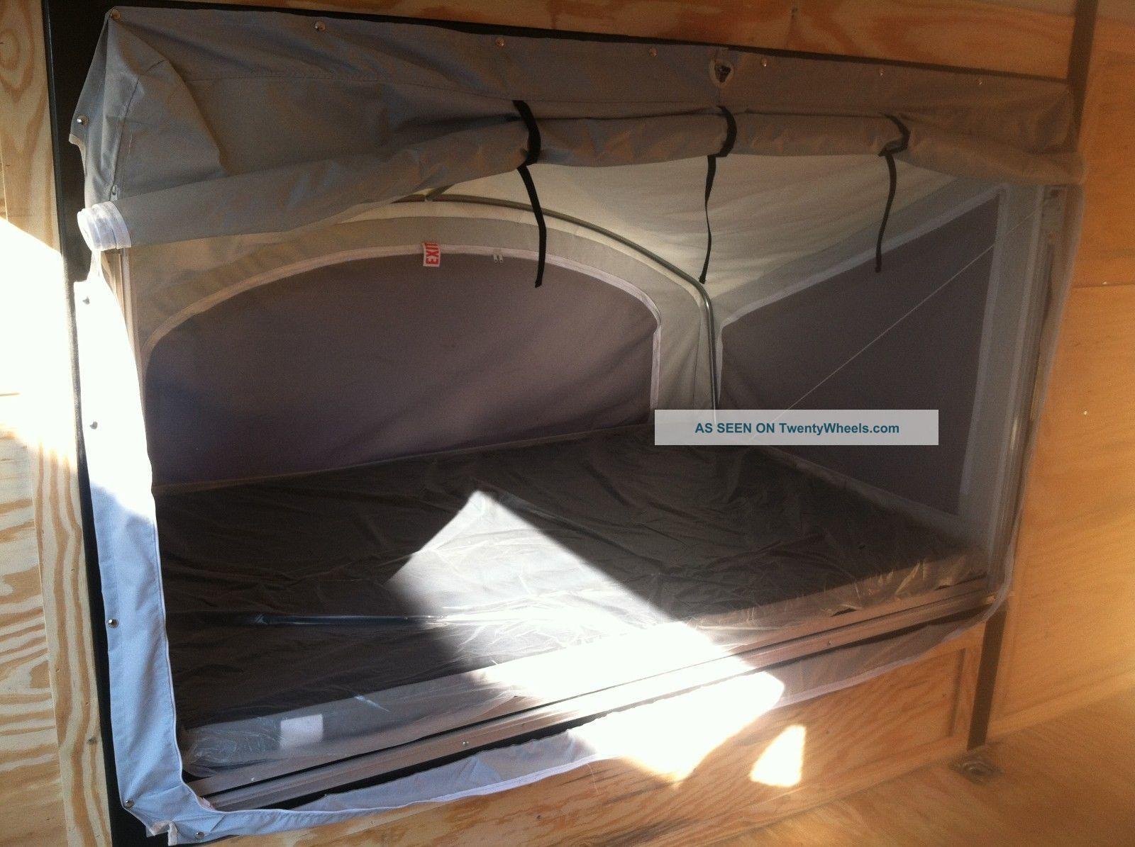 Fold out beds, Enclosed trailer camper, Camping trailer diy