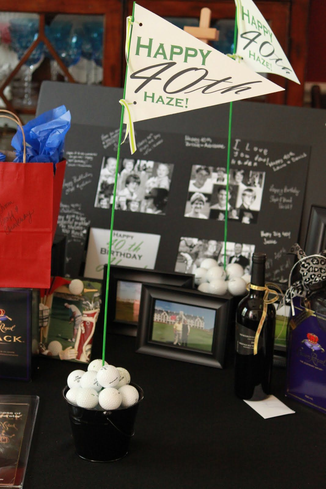 The Blackberry Vine 40th Birthday Golf Party Decorations - great ideas on their site & The Blackberry Vine: 40th Birthday Golf Party Decorations - great ...