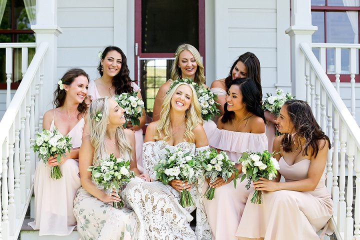 Colette and Spencers Bohemian Barn Wedding in California by Onelove Photography