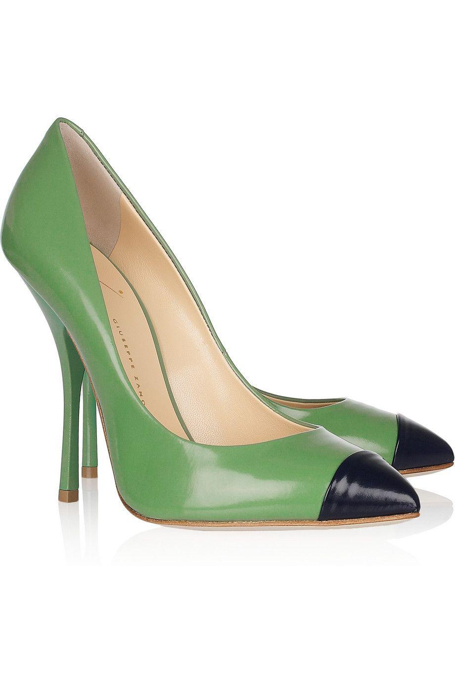 849bbf588a Giuseppe Zanotti - Two-tone glossed-leather pumps | Walk me. | Shoes ...