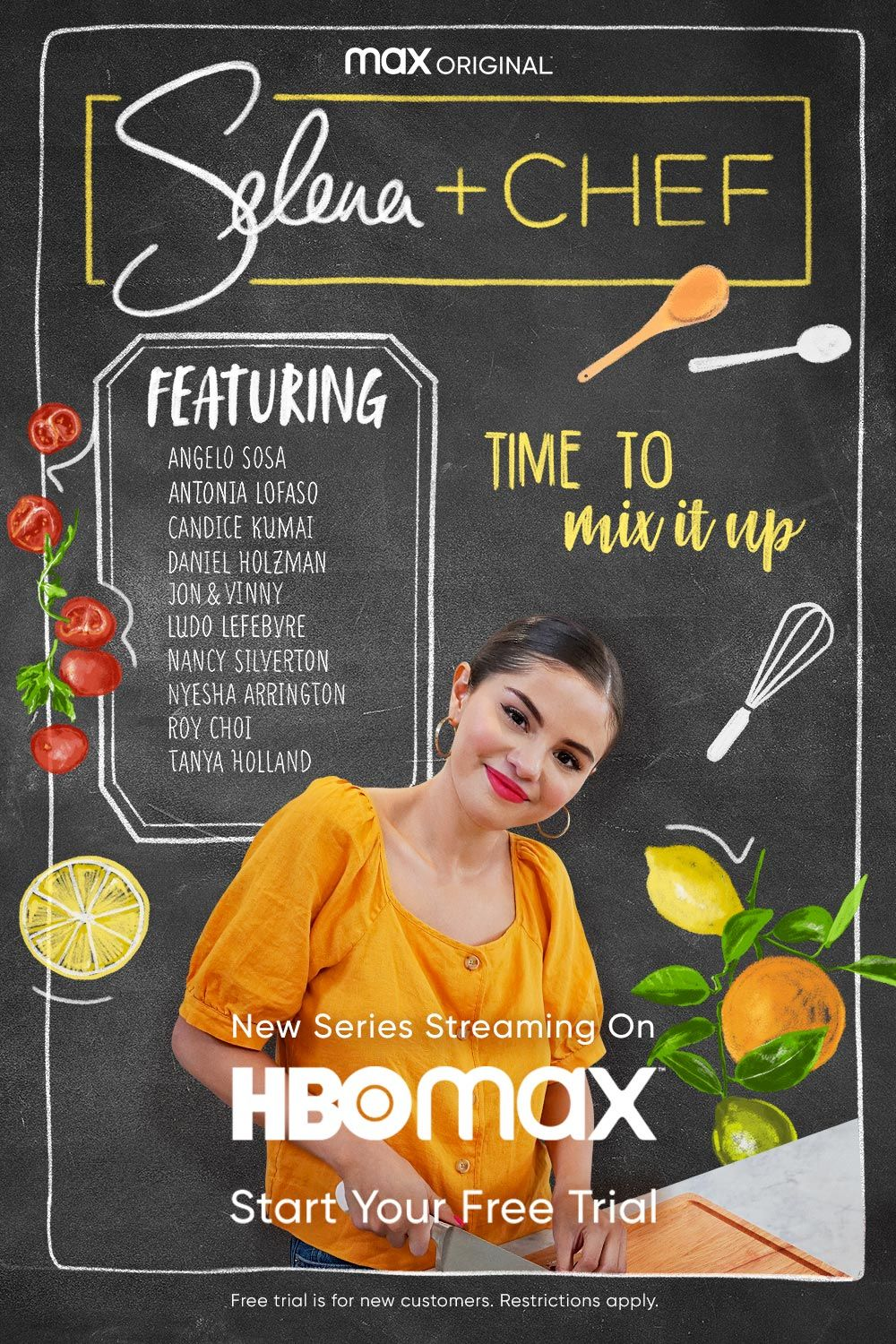 Selena Chef Now Streaming Only On Hbo Max Hbo Vegan Dinner Recipes Cooking Skills