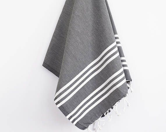 A peshtemal is a Turkish traditional towel used in the Turkish baths. There are many kinds of peshtamals, with different styles and colors in each local areas in Turkey.  These products dry quickly and theyre light so you can use them on the beach, in sports or while travelling. .............................................. > Shipping FedEx 3-5 business days to everywere else Please include your phone number so FedEx can schedule a delivery…