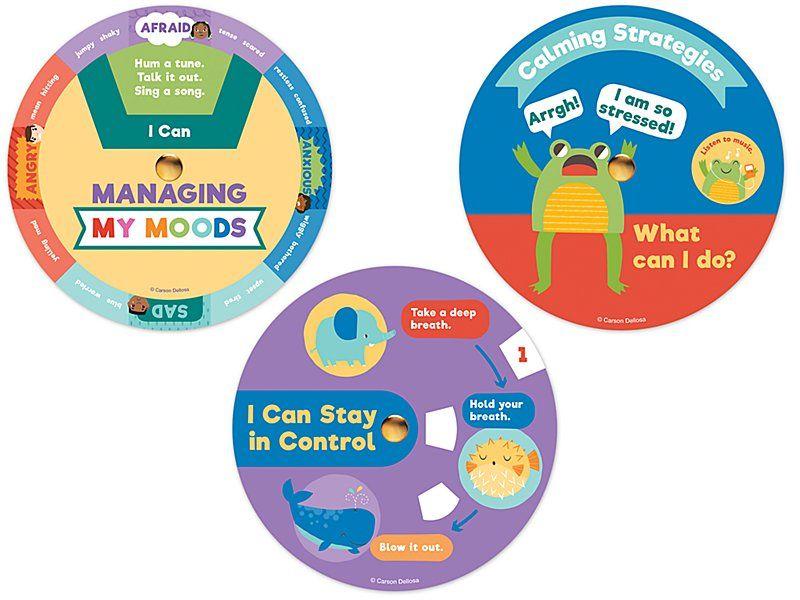 Social Emotional Calming Strategy Wheels Calming Strategies Social Emotional Social Emotional Skills