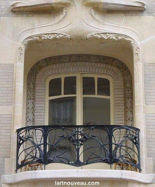 Hôtel Mezzara 60, rue La Fontaine Paris 16e Hector Guimard architecte 1910