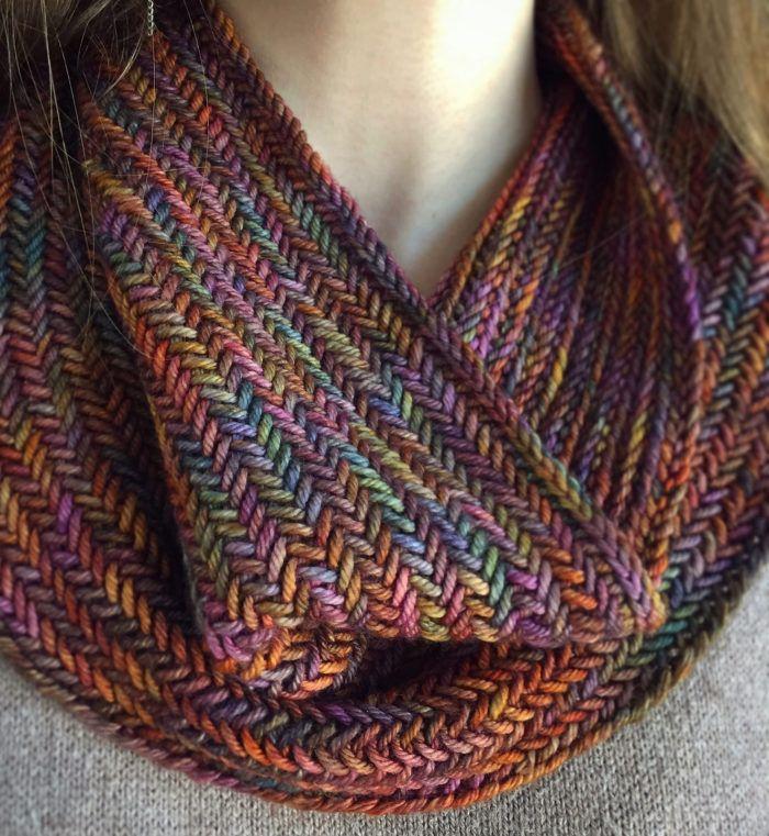 Free Knitting Pattern For Big Herringbone Cowl Knitting