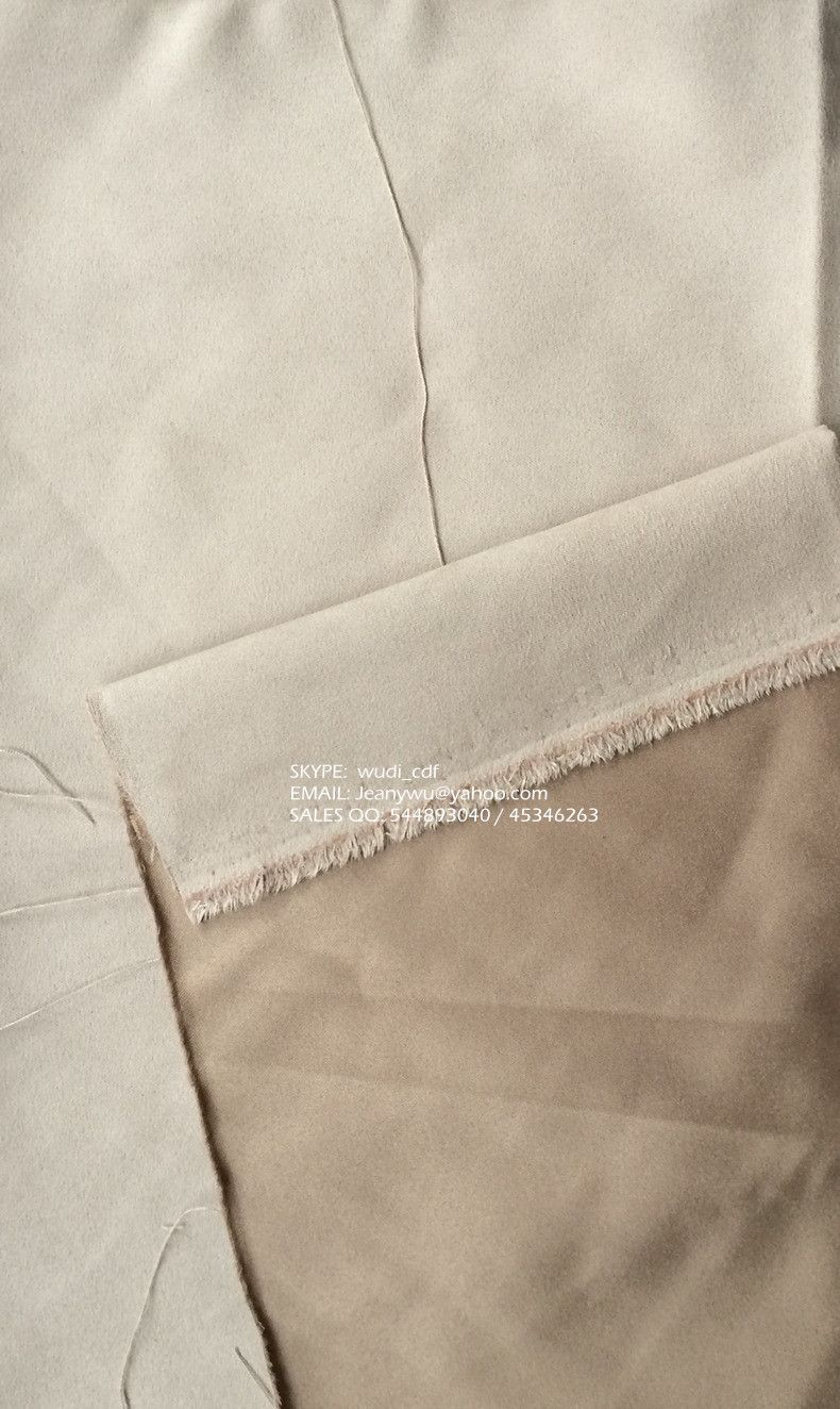 Light Brown Faux Suede 160gsm 58 60 Inch Super Pesca Suede Velvet