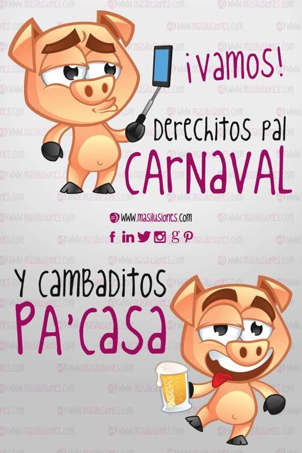 """""""Ponte tu mejor disfraz y entra en el Carnaval..."""" #masilusiones  https://www.facebook.com/MasIlusiones/ http://www.masilusiones.com/"""