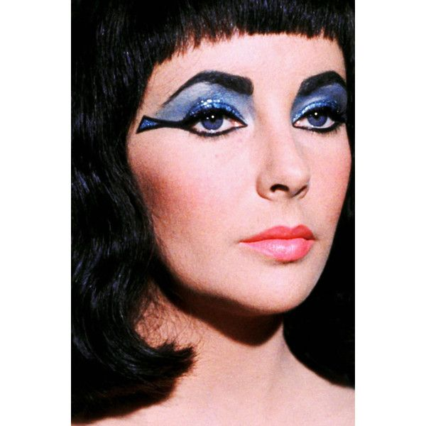 Elizabeth Taylor In Cleopatra 1963 Liked On Polyvore Elizabeth Taylor Cleopatra Egyptian Makeup Cleopatra Makeup