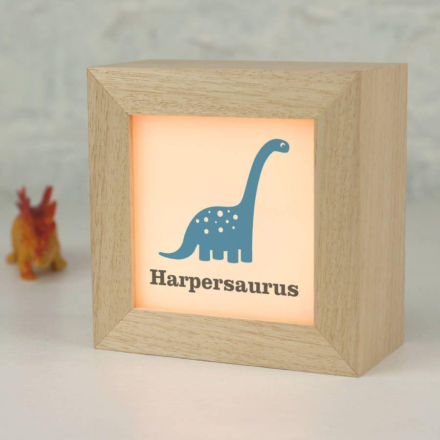 Personalised Dinosaur Lightbox