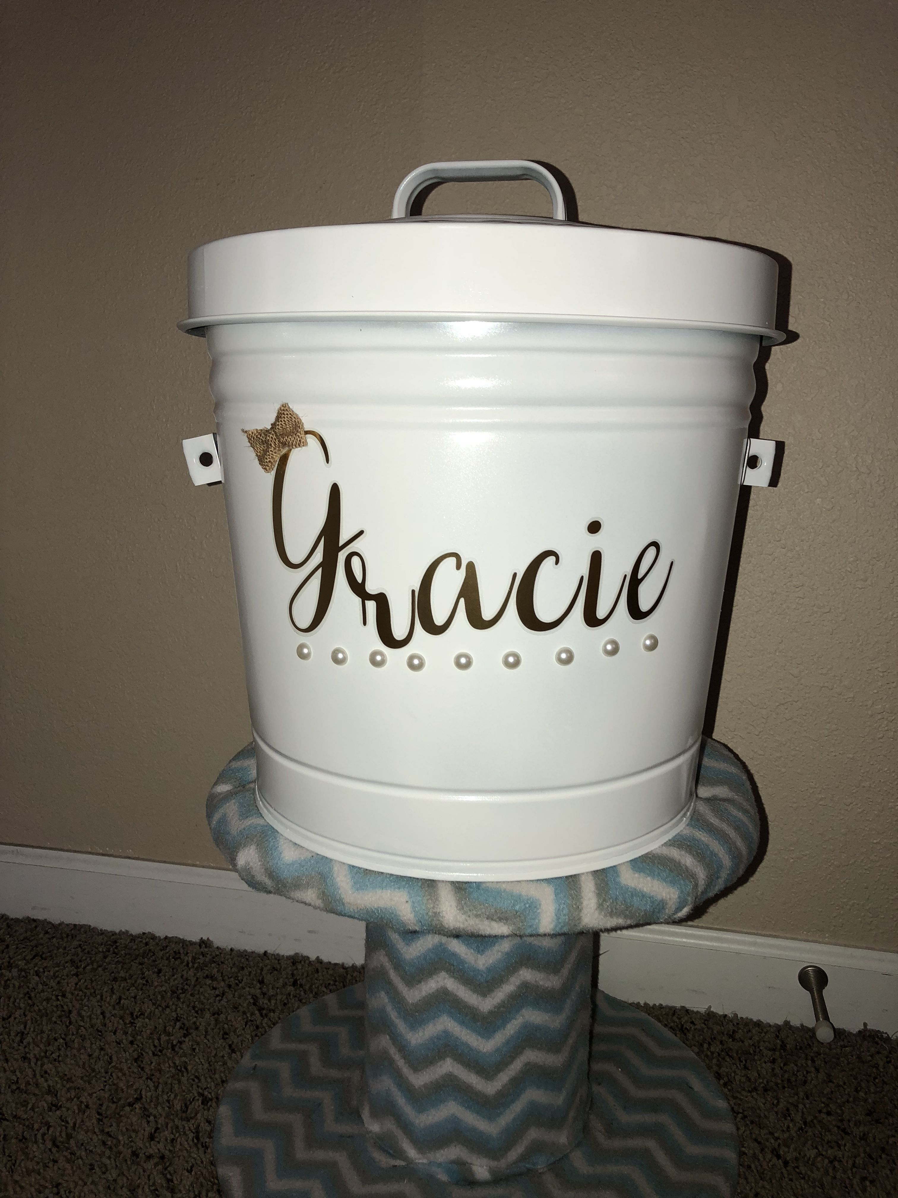 DIY Dog food container! Super easy and fun to make! Metal