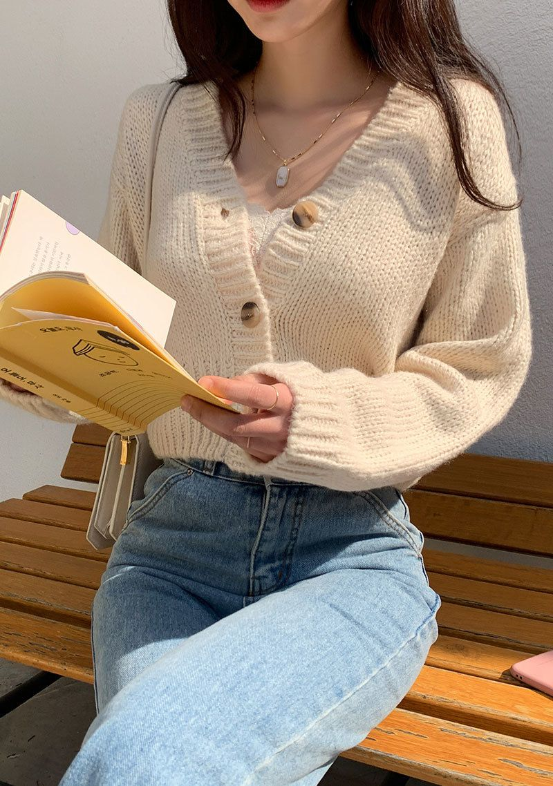 I Wonder Why Knit Crop Cardigan | Cute casual outfits, Fashion inspo  outfits, Korean outfits