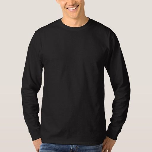 Plain Black Mens Basic Long Sleeve T-shirt | Shirts, Plain black ...