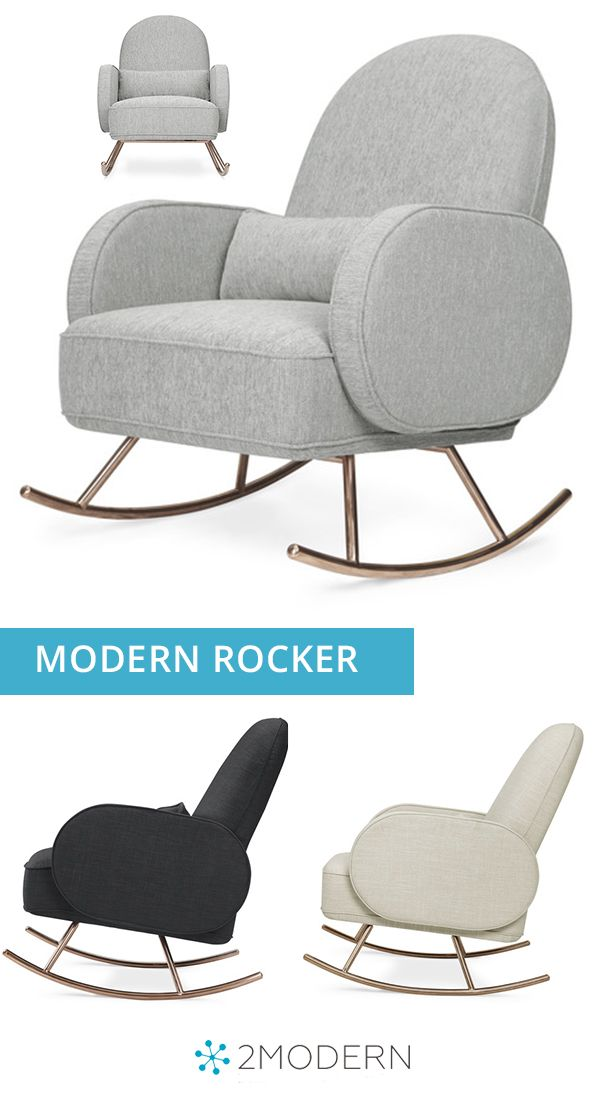 Compass Rocker With Rose Gold Legs Modern Nursery
