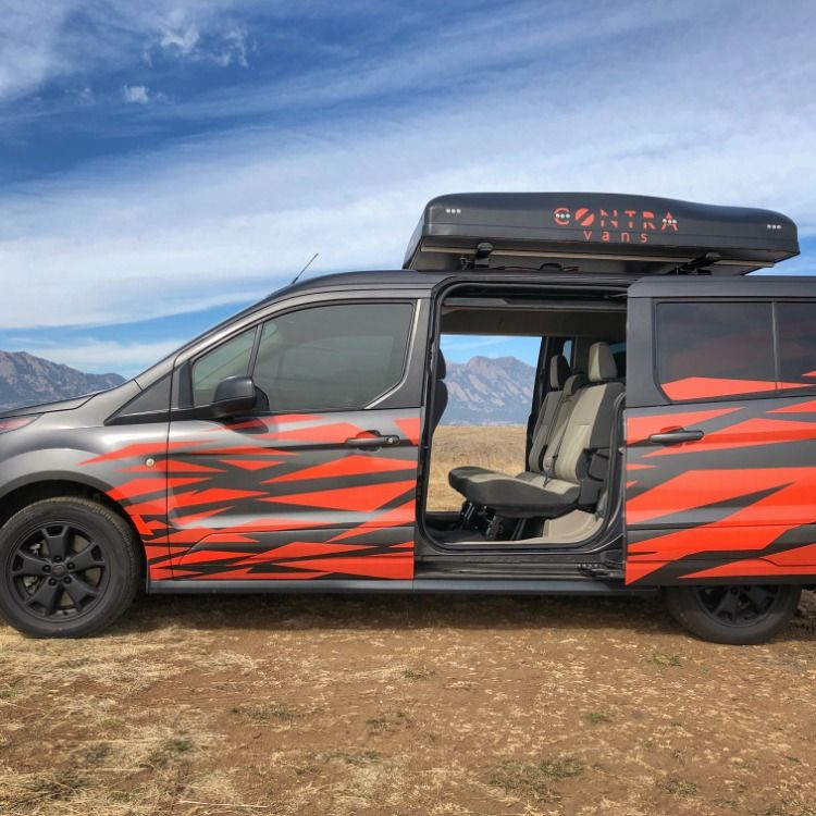 Family Campervan Conversion Seats Sleeps 5 Adults In Ford Transit Connect In 2020 Campervan Ford Transit Ford Transit Connect Camper