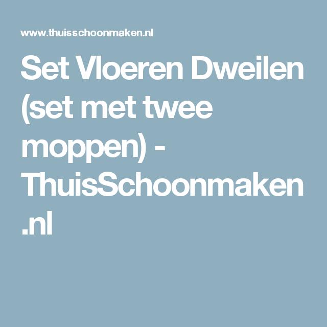 Set Vloeren Dweilen (set met twee moppen) - ThuisSchoonmaken.nl