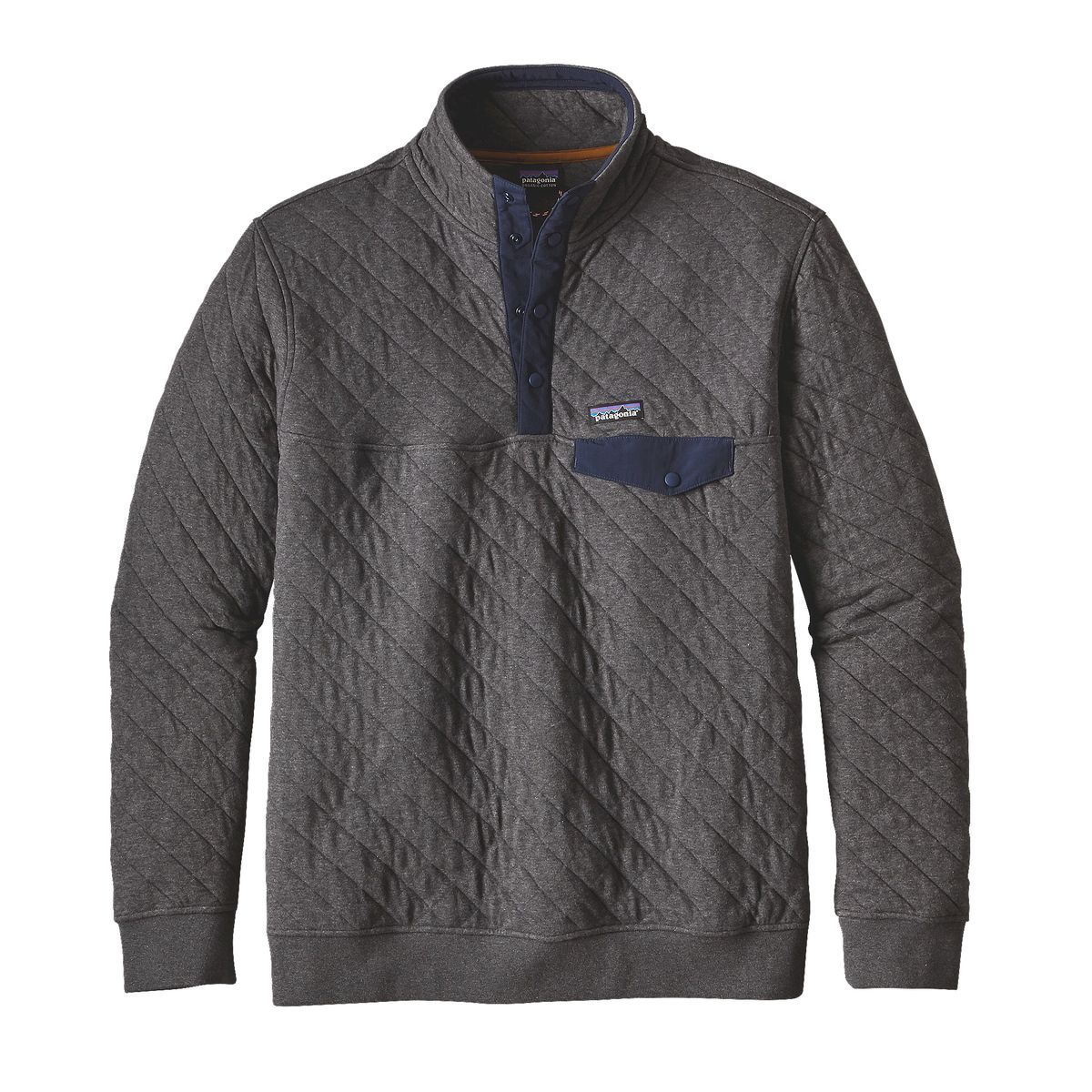 Men S Organic Cotton Quilt Snap T 174 Pullover Pullover