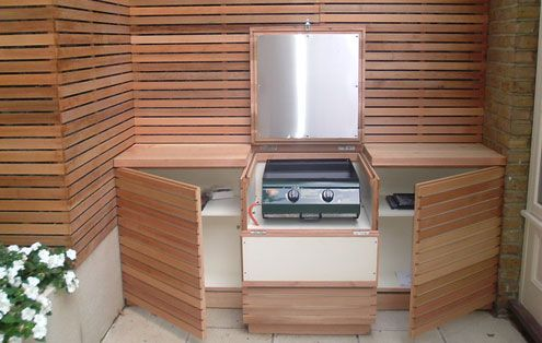 Contemporary Bbq Covers Units Stores Essex Uk The Garden Trellis Company Outdoor Bbq Kitchen Contemporary Garden Built In Bbq