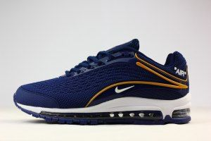 Mens Nike Air Max Deluxe OG 1999 Kpu Navy Blue Gold White Shoes Sportswear c1be06c95