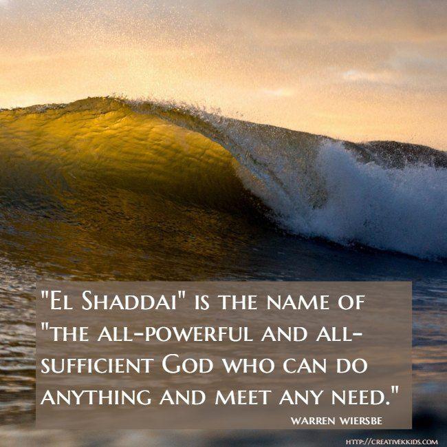 Thoughtful Thursdays: El Shaddai | Creative K Kids | Names of god, My god shall supply, Mere christianity