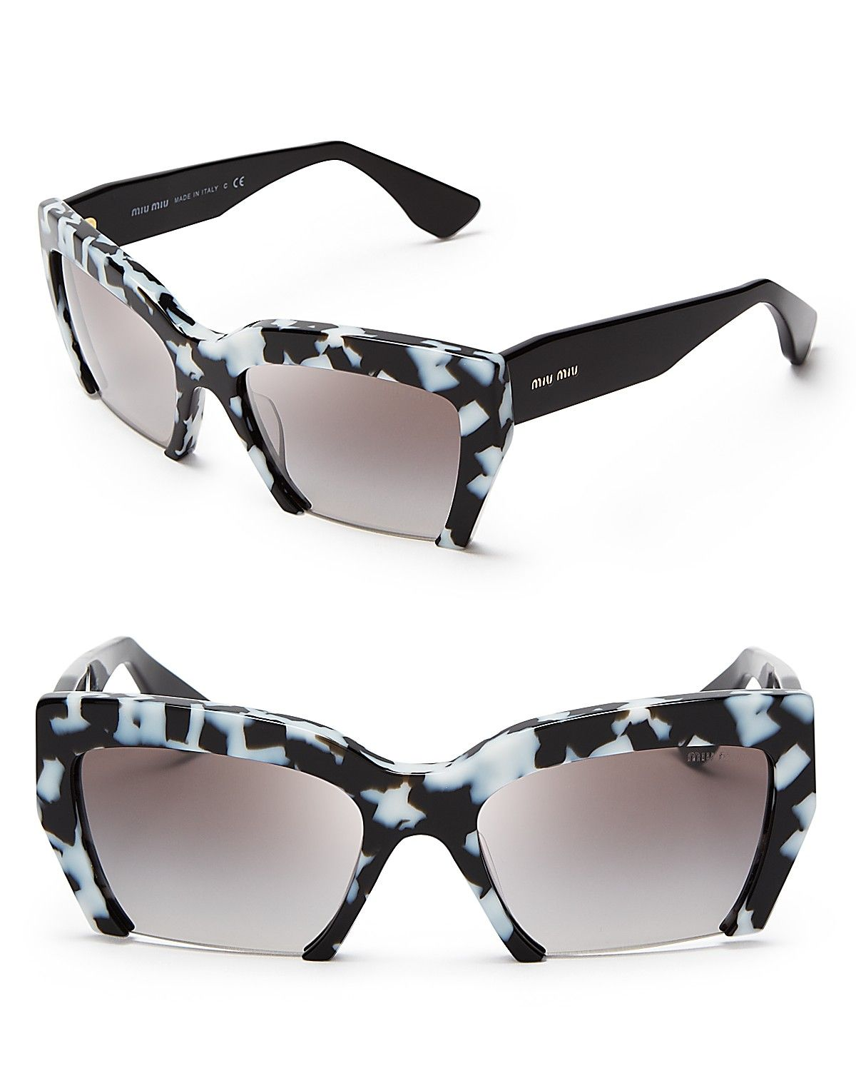 e4ccdb39cefb Miu Miu Semi-Rimless Geometric Sunglasses | Bloomingdale\\'s Winter Typ