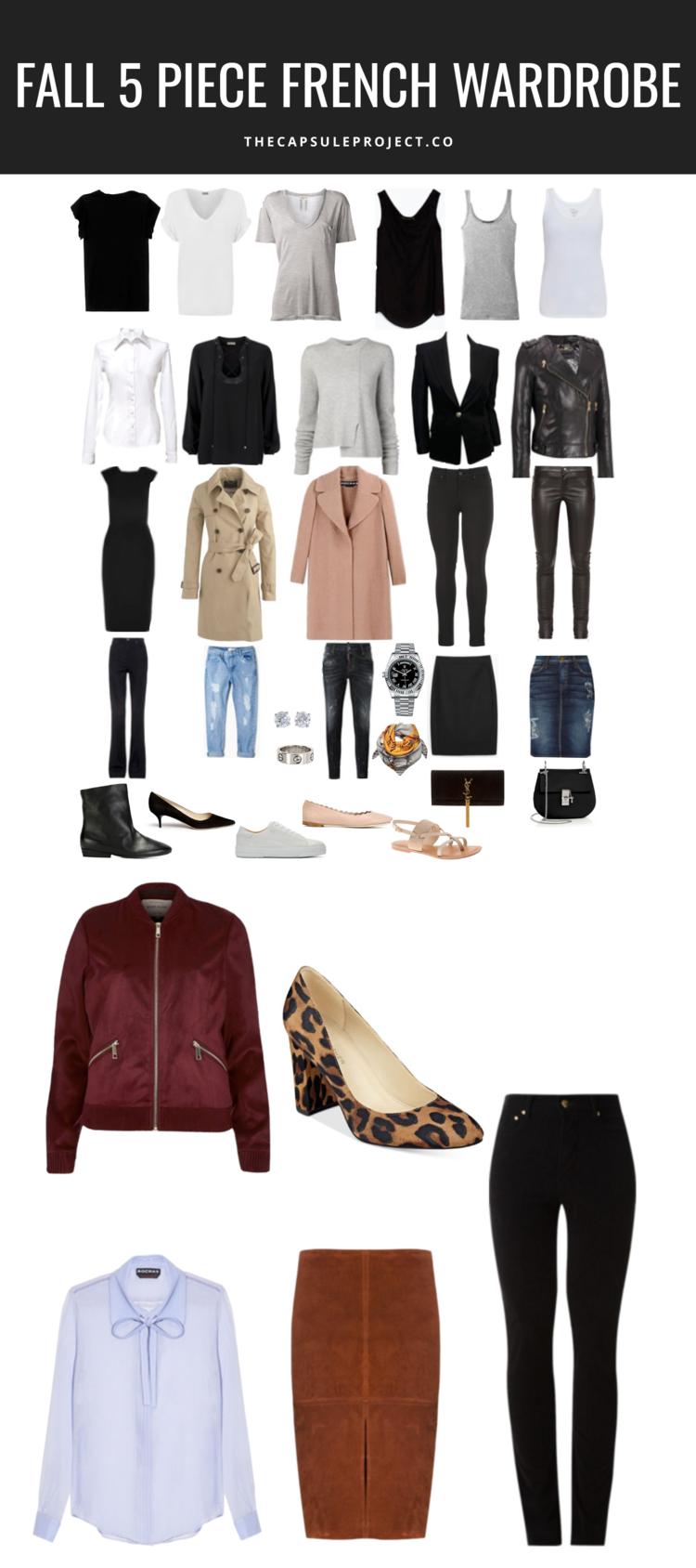Fall 2016 Five Piece French Wardrobe