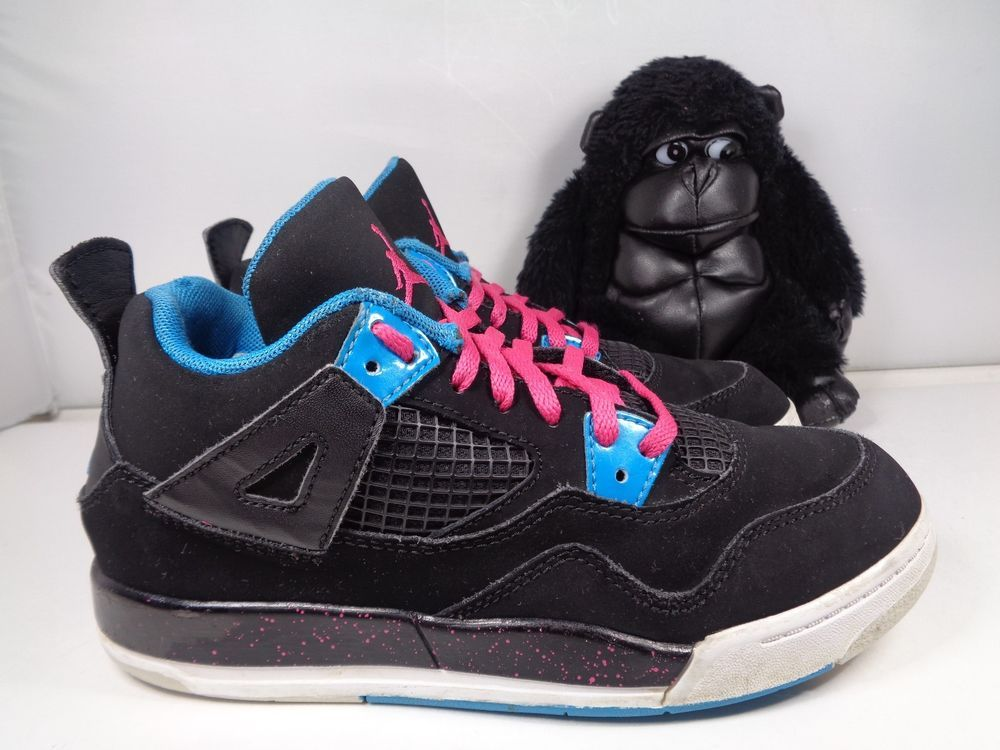 the best attitude 32b3c 2c56e Kids Nike Air Jordan 4 IV Retro Basketball shoes size 2.5  Nike  Athletic
