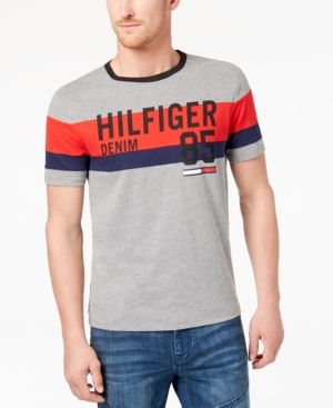 fc4af642d9ae2 Tommy Hilfiger Men s Graphic-Print T-Shirt - Gray 2XL