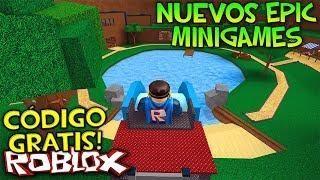 Codigo Item Gratis Epic Minigames Nuevos Juegos Y Mapas Roblox