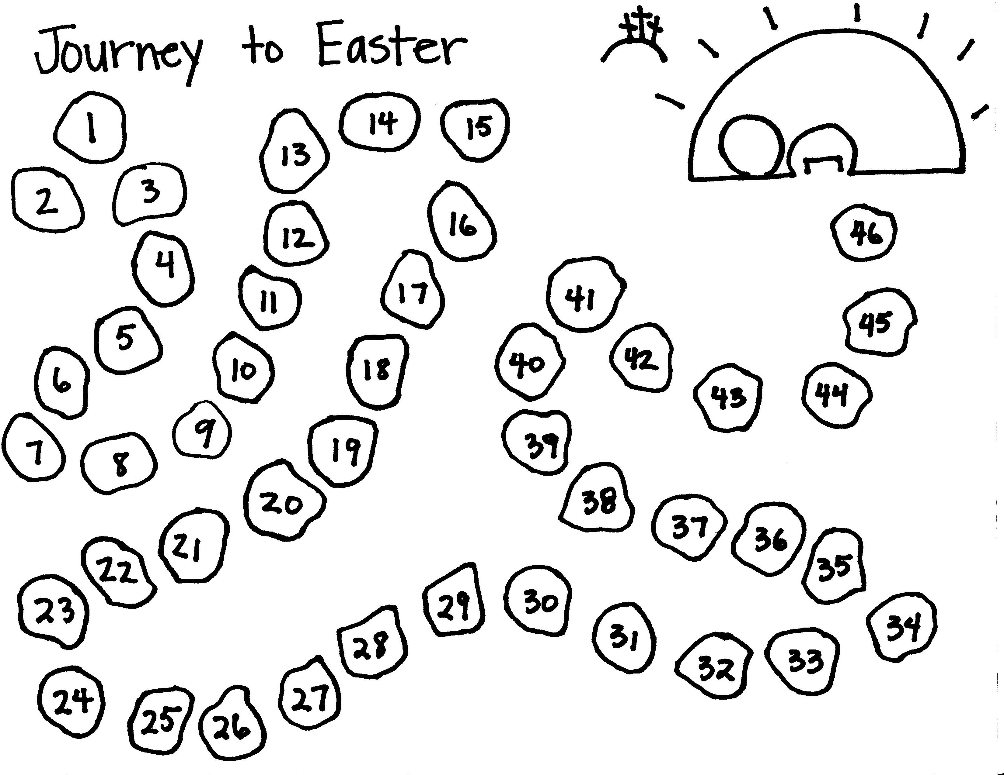 Color One Step Each Day To Journey Through Lent To The
