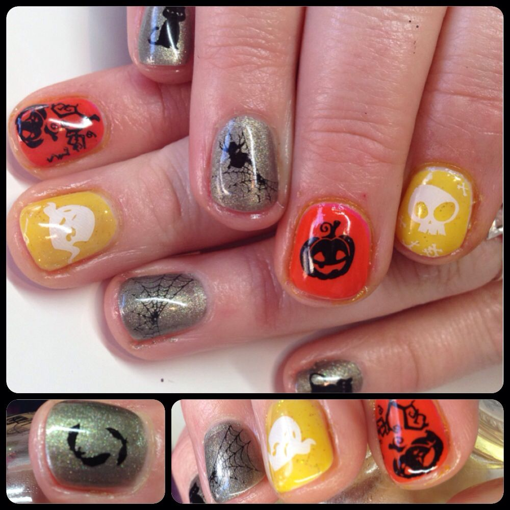 Halloween nail art with CND Shellac | Halloween nails ...