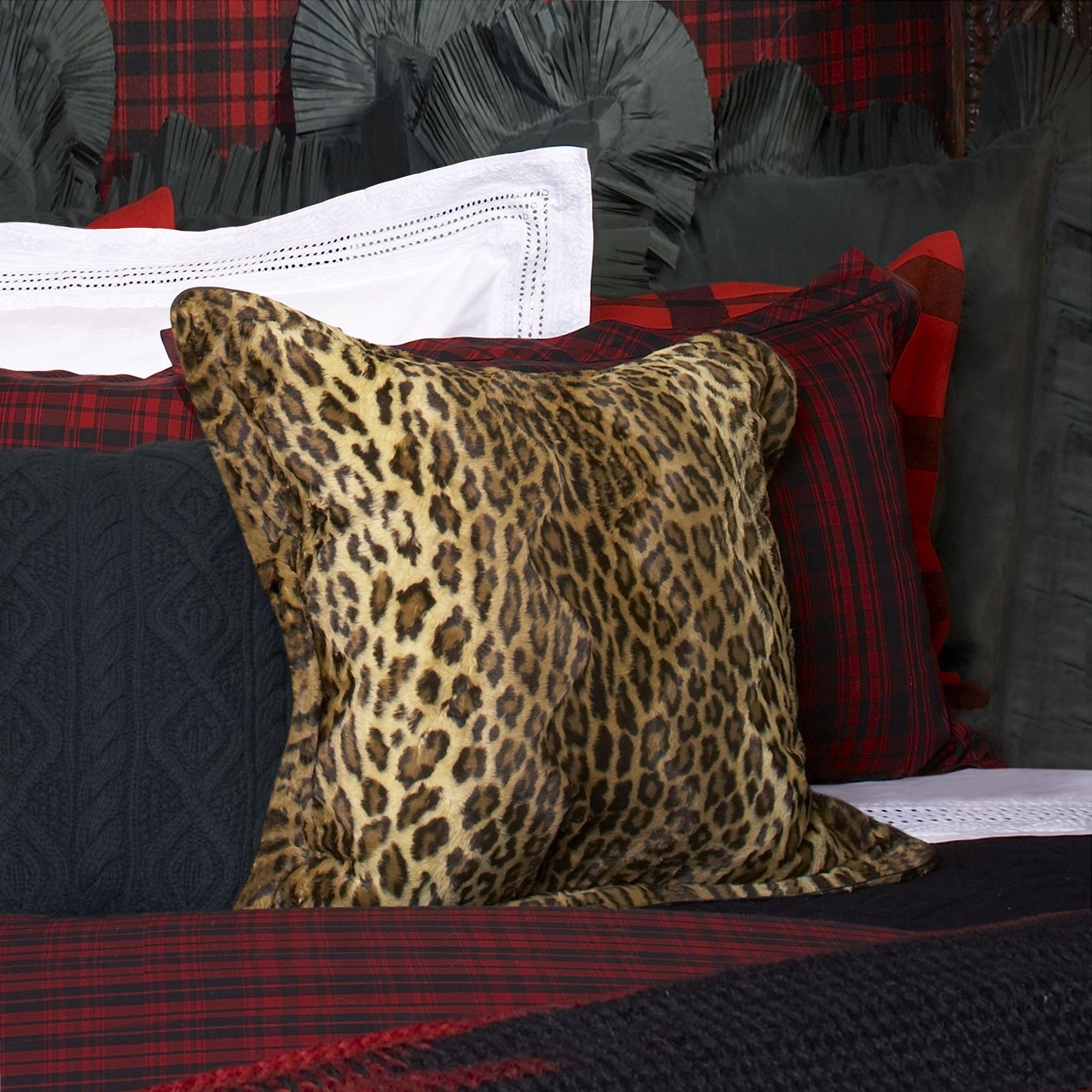 Aragon Leopard Throw Pillow Pillows, Throw pillows