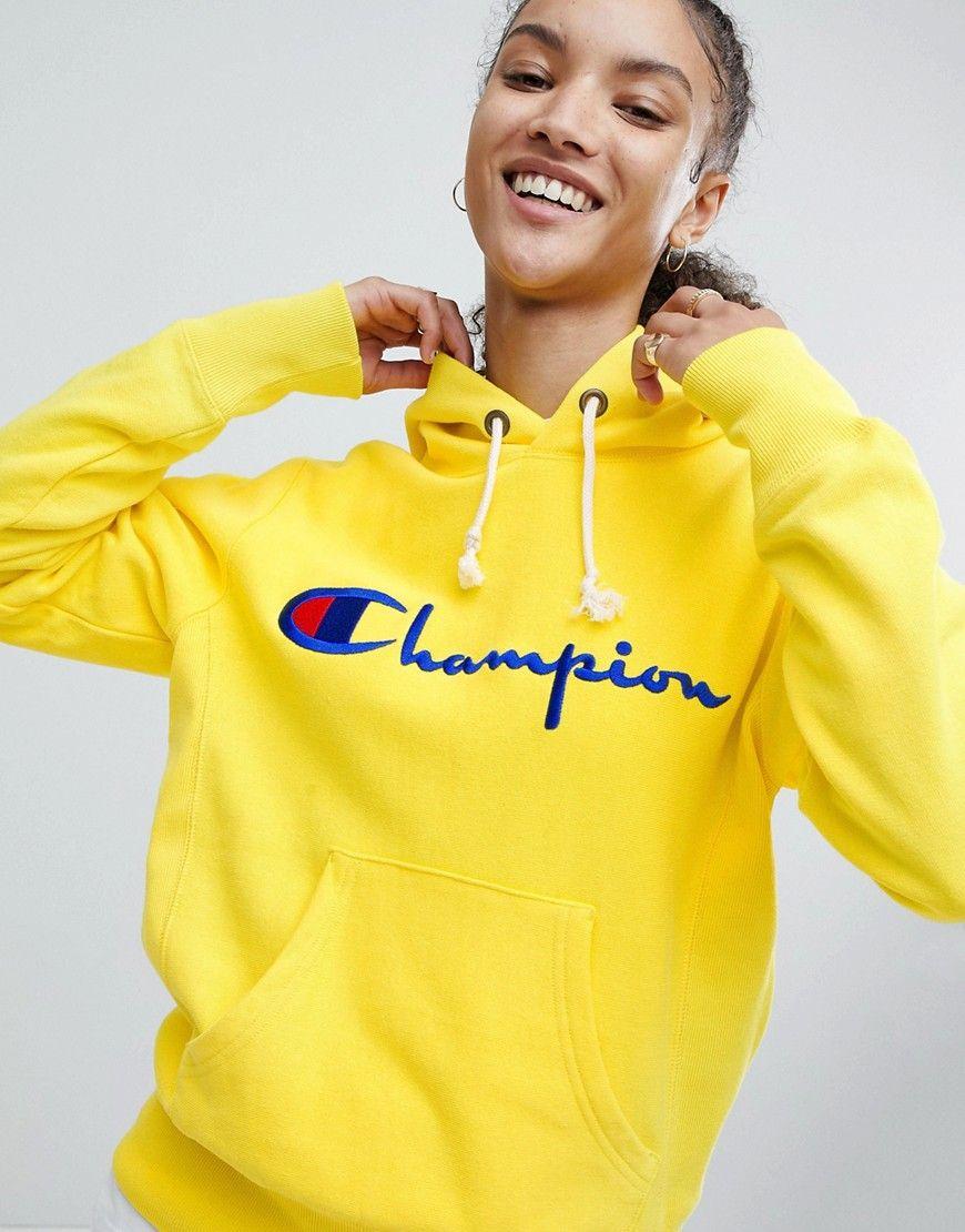champion pullover gelb damen