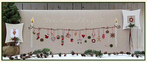 UB-Stickdesign Art.Nr. E-967 Weihnachtszeit Farbige Einzelanleitung in Buchdruckqualität EUR 9,90