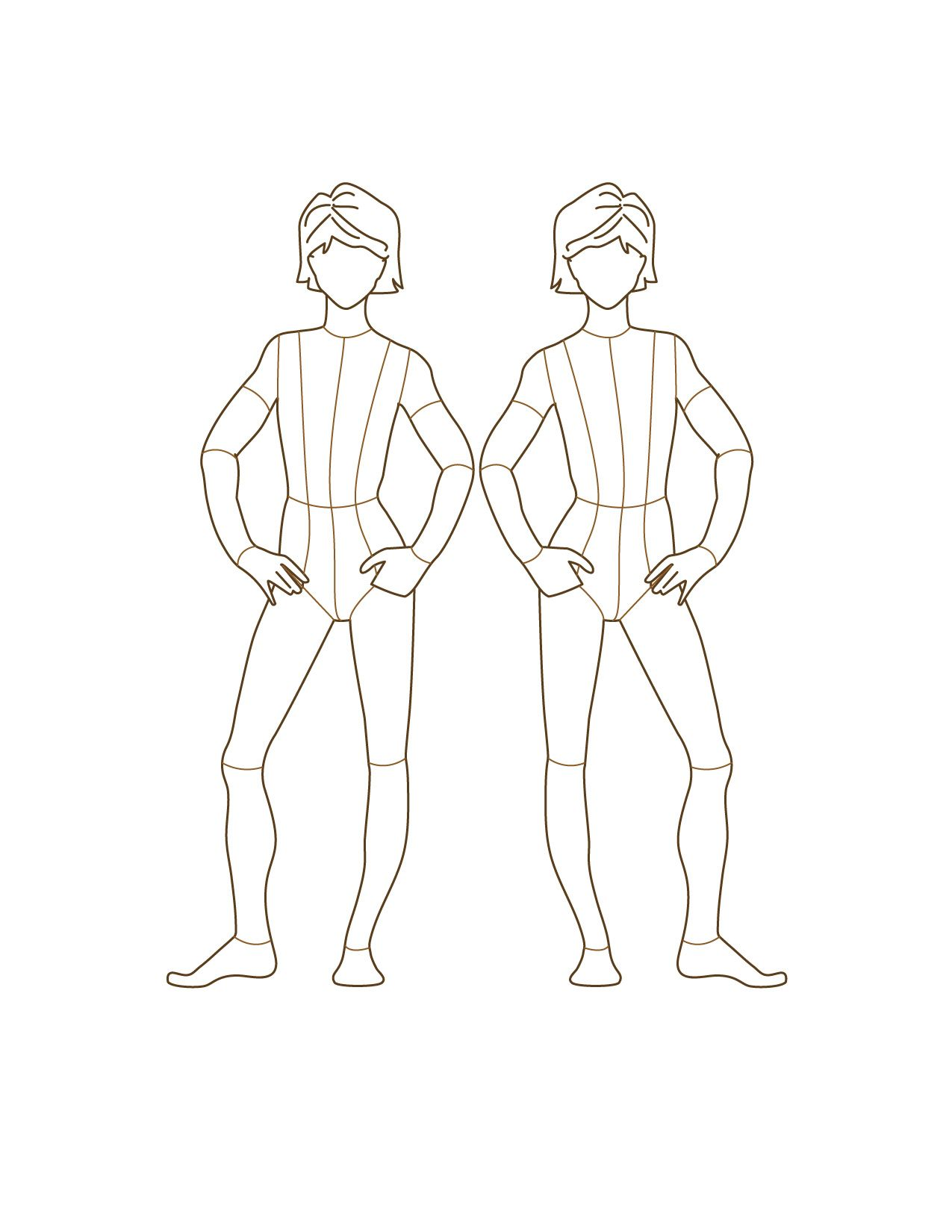 fashion designer drawing template - google image result for
