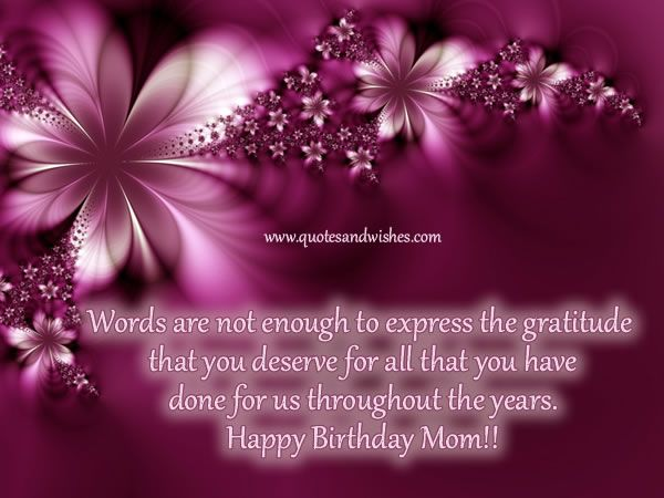 Happy Birthday Quotes And Images ~ Happy birthday mom quotes birthday quotes for mom picture