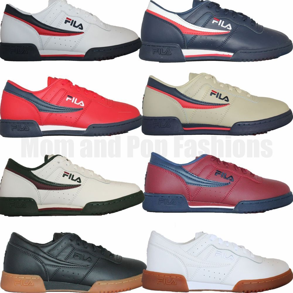 the latest 92817 18cfb Mens Fila Original Fitness Classic Retro Casual Athletic Shoes White Navy  Red   Clothing, Shoes   Accessories, Men s Shoes, Athletic   eBay!