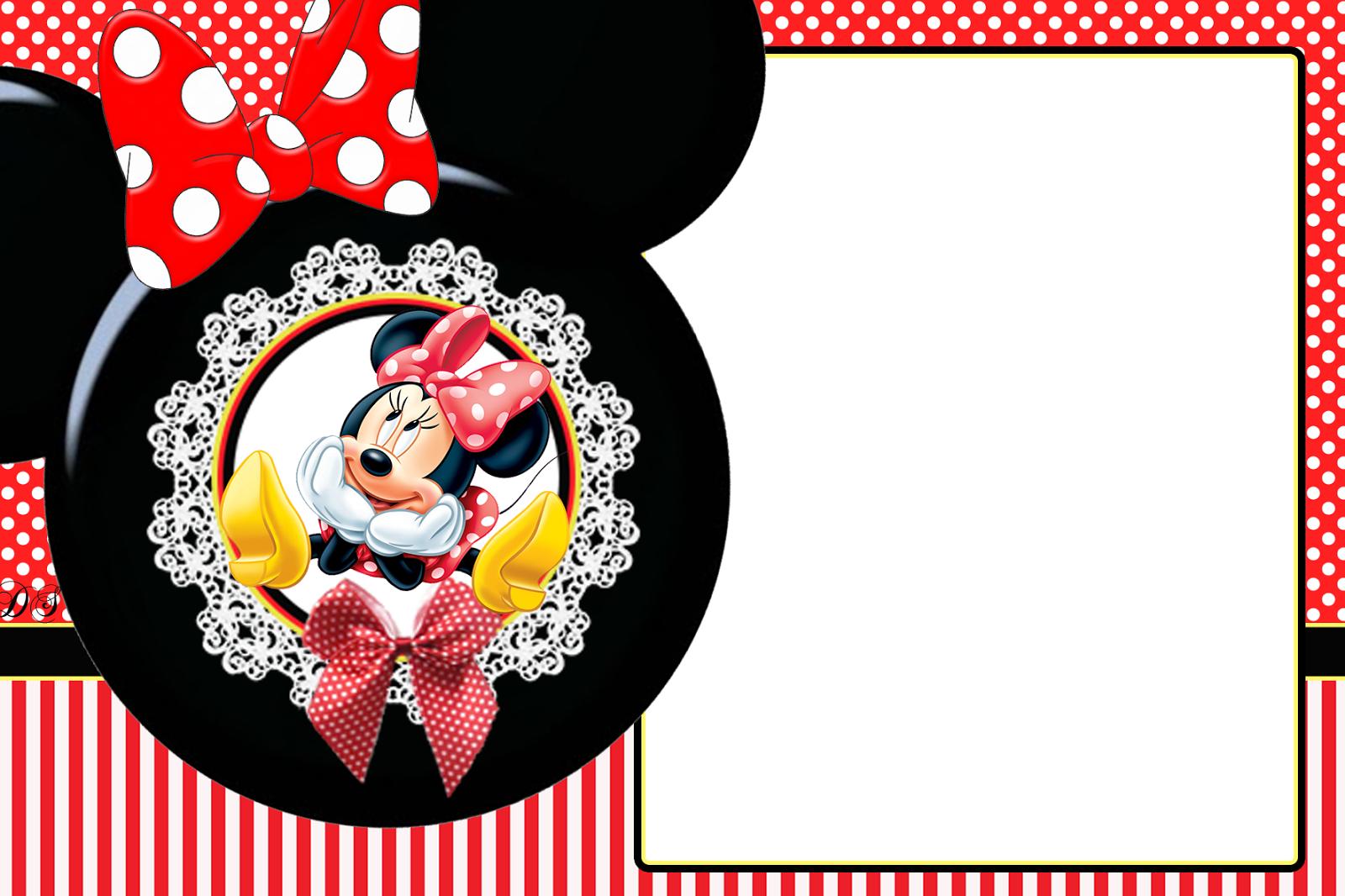 Convites Da Minnie Para Imprimir Grátis Cosas Para Imprimir