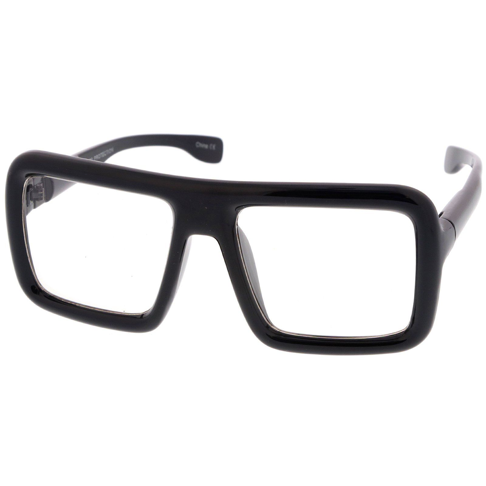 77ece581c8 Oversize Bold Thick Frame Clear Lens Square Eyeglasses 58mm – sunglass.la