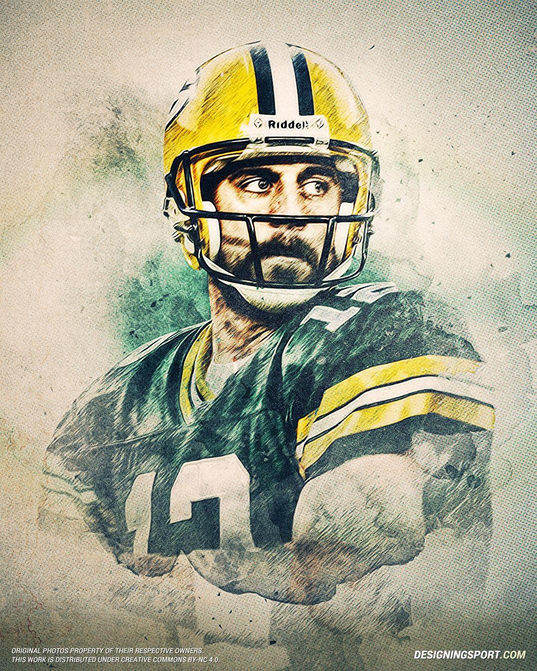Aaron Rodgers Green Bay Packers Designing Sport Futebol Americano Futebol Americano