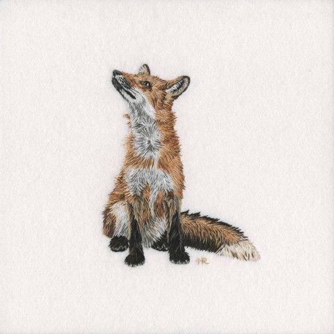 Fox Original Hand Embroidery