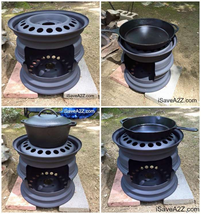 Diy Wood Stove Made From Tire Rims Do It Yourself Today