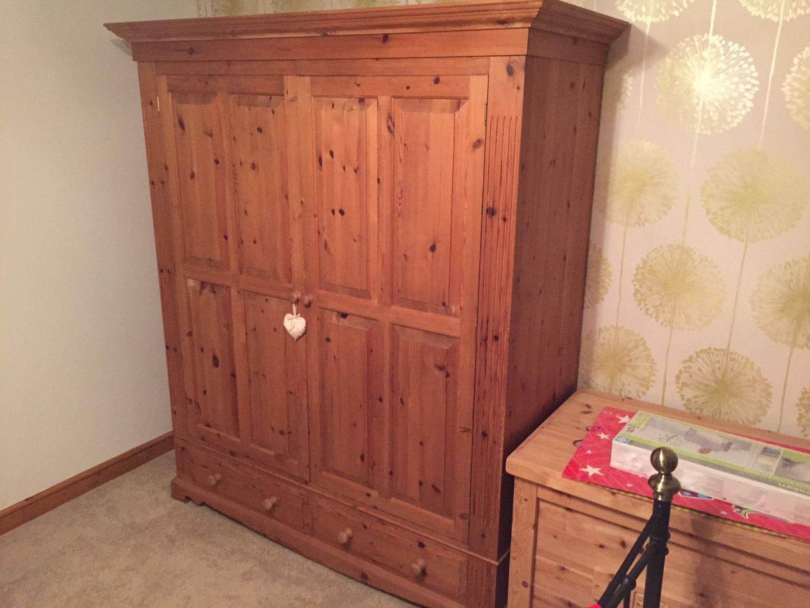 Extra large john lewis double pine wardrobe in home furniture