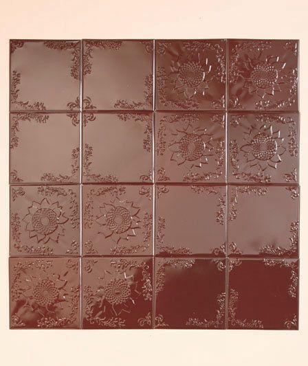 16 Pc Bronze Sunflower Embossed Tiles Backsplash Kitchen Wall Self-Adhesive