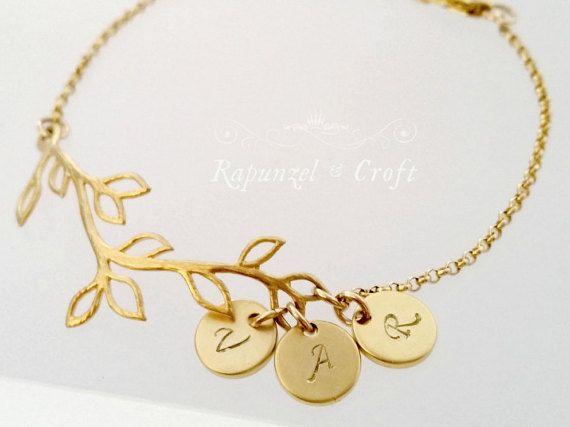 10% OFF Sale Personalized bracelet Branch by RapunzelCroft on Etsy