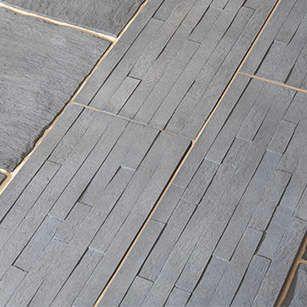 Bradstone Serrated Slate Effect Edging Kebur Stone Edging Concrete Stone Garden Edging
