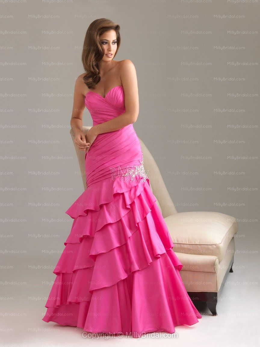 Sweetheart Mermaid Dress. But not in pink