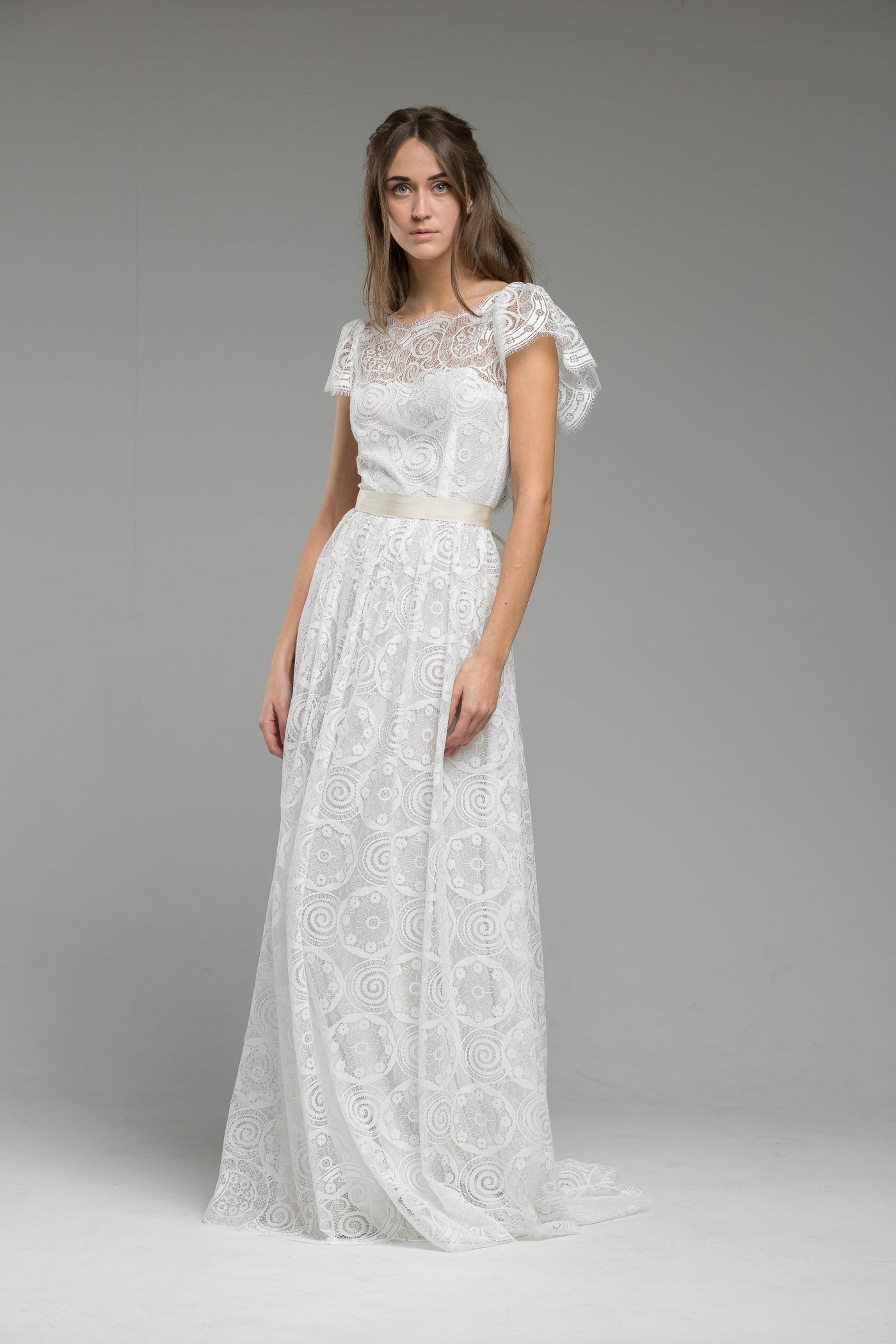 Boho hippie wedding dress  vintageinspiredlaceweddingdressdressesgownlondonUKboho